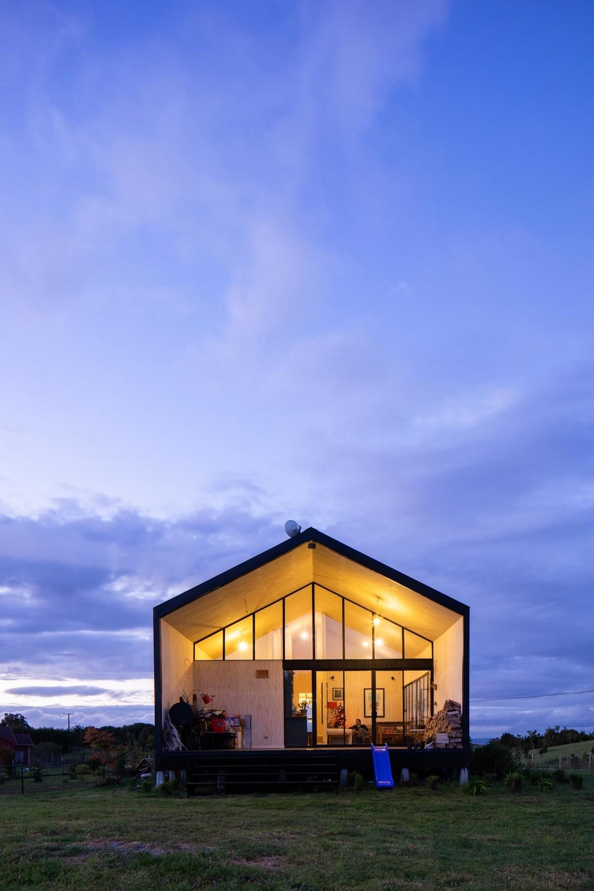 Деревянный частный дом в Чили