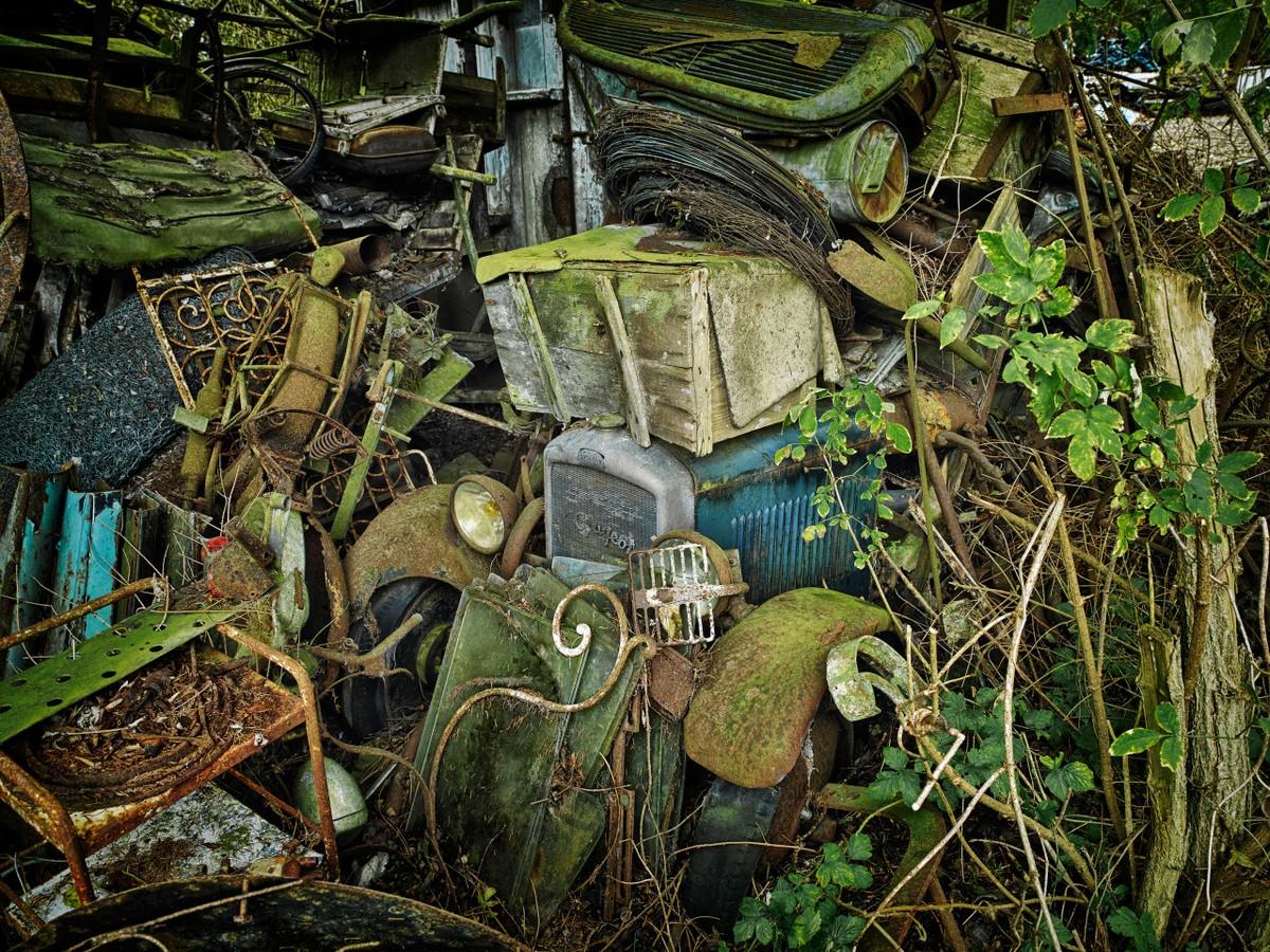Красота заброшенных автомобилей в фотокниге Дитера Кляйна