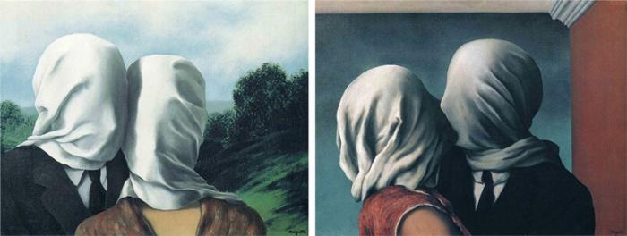 Тайна прикрытых лиц на картинах Рене Магритта Влюбленные