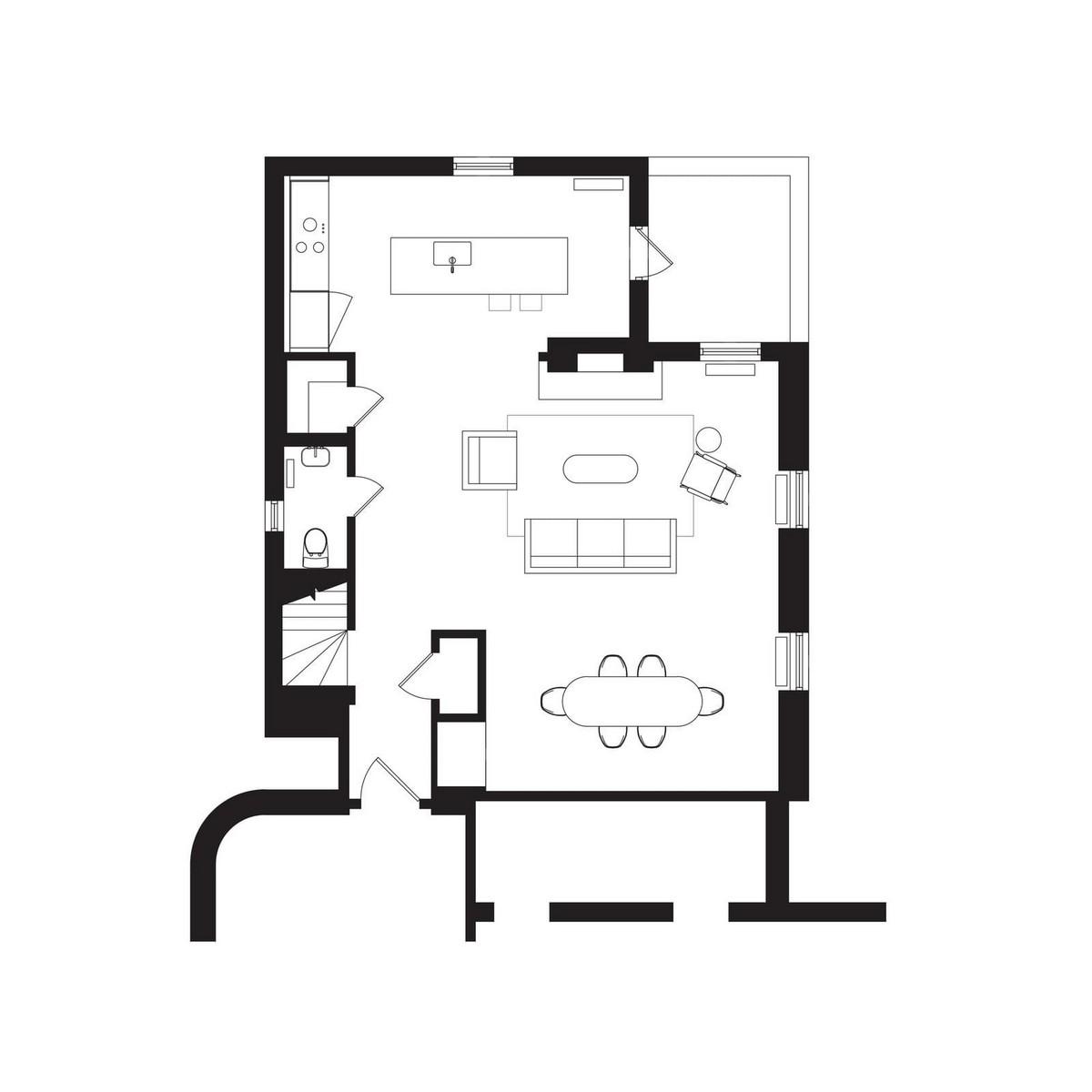 Двухуровневая квартира в бруклинском доме XIX века