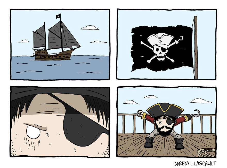 Комиксы для любителей чёрного юмора от Реми Ласко