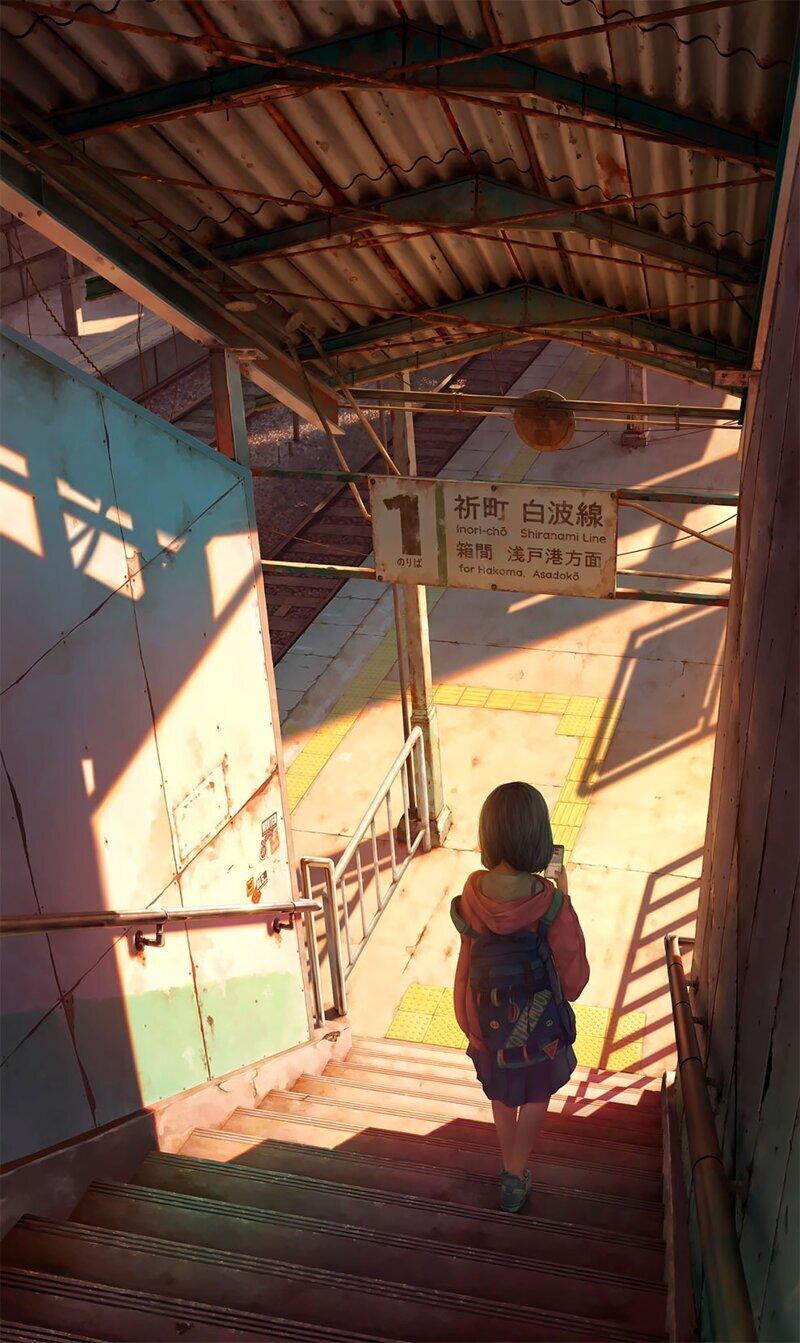Потрясающие работы Коуки Икегамиа, которые выглядят как кадры из аниме