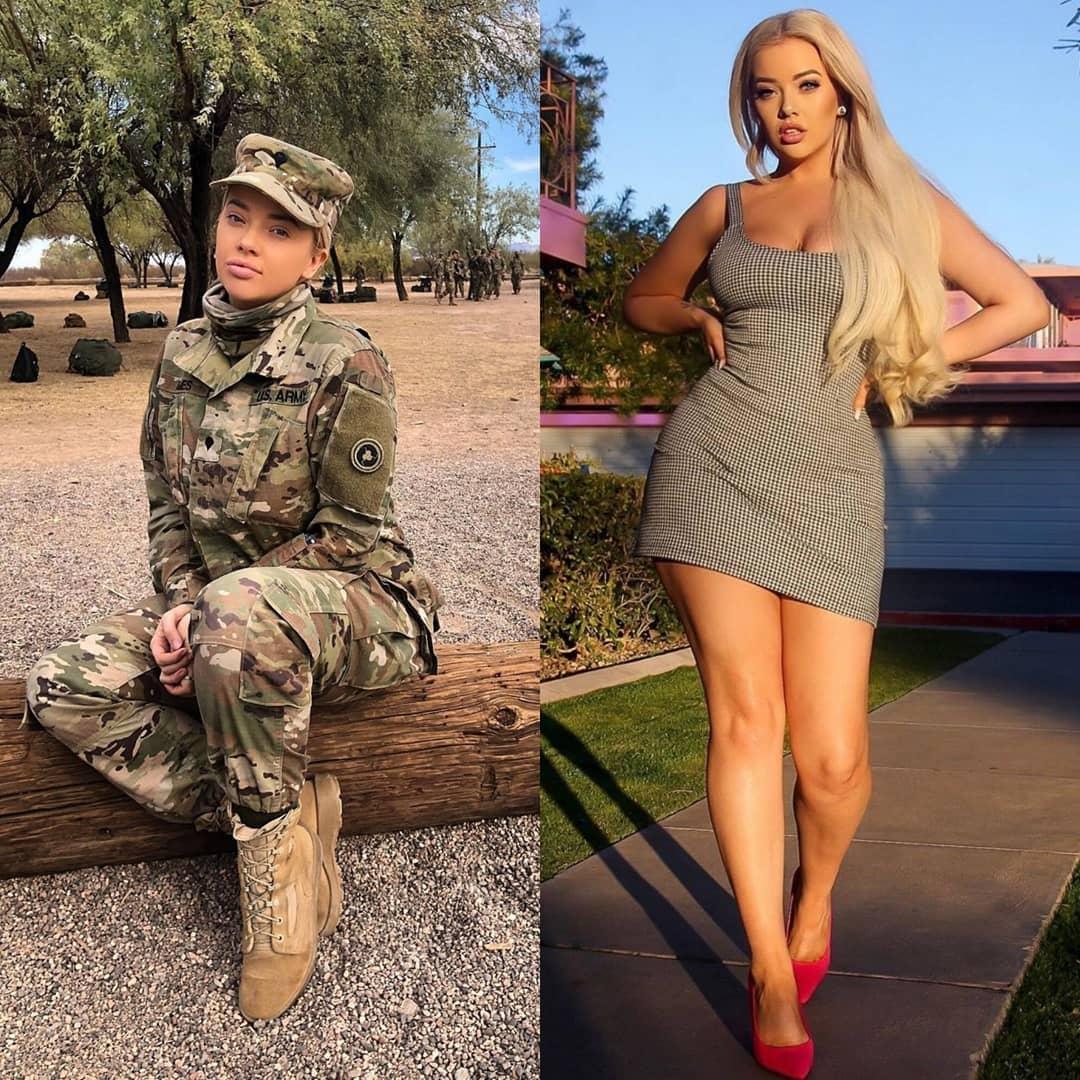 Красивые девушки в униформе и без неё