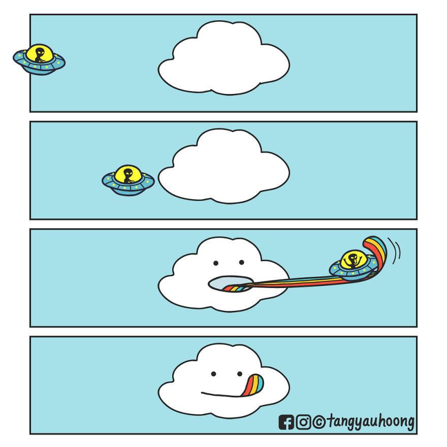 Забавные комиксы с неожиданной концовкой от Тан Йау Хон