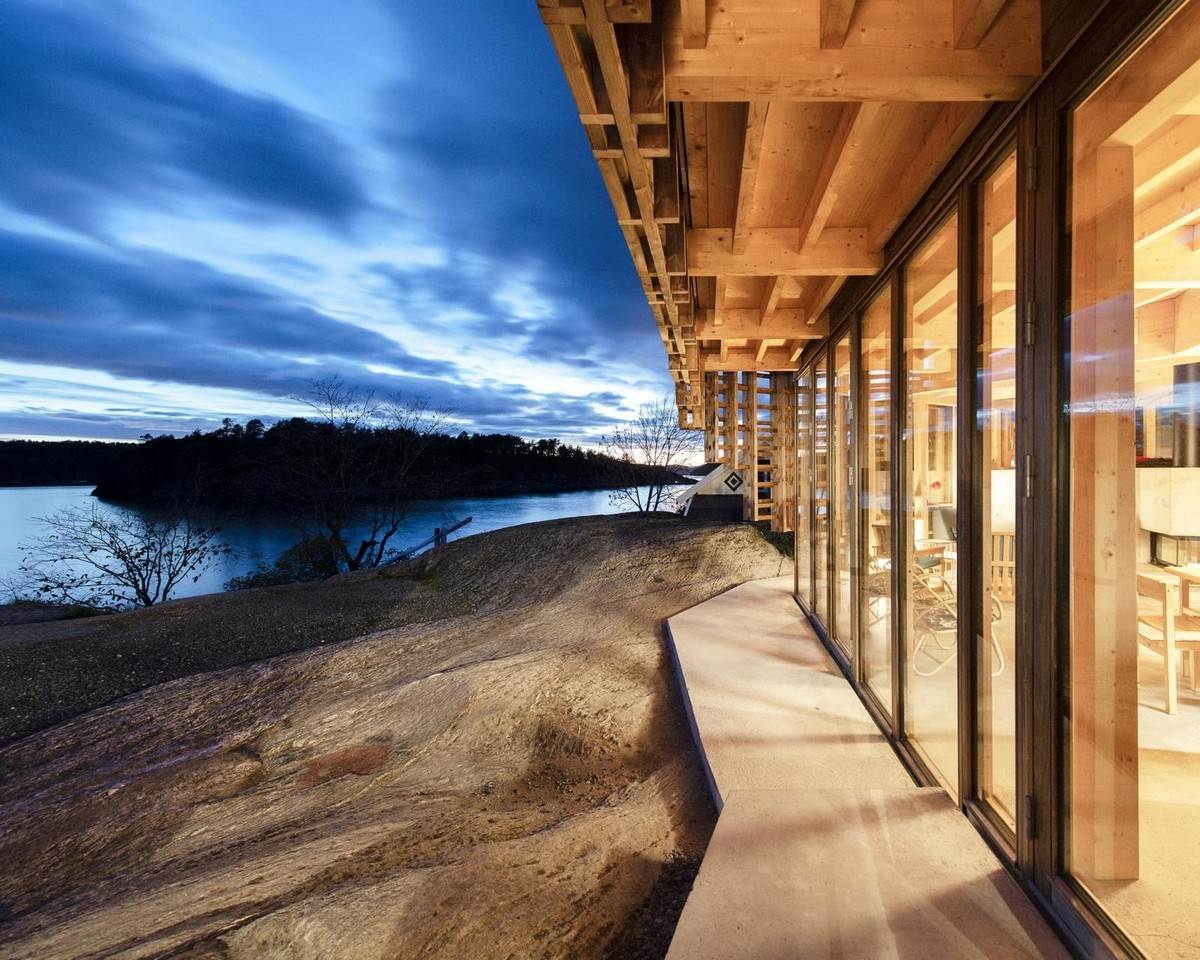 Деревянный загородный дом в Норвегии