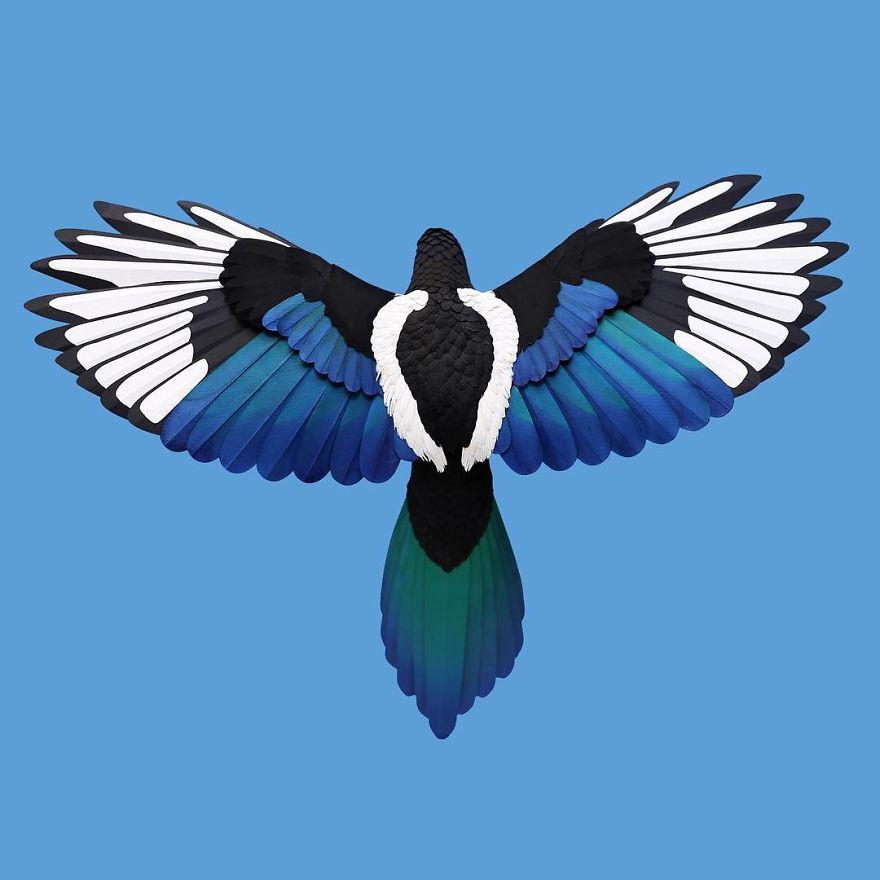 Реалистичные птицы из бумаги от колумбийской художницы