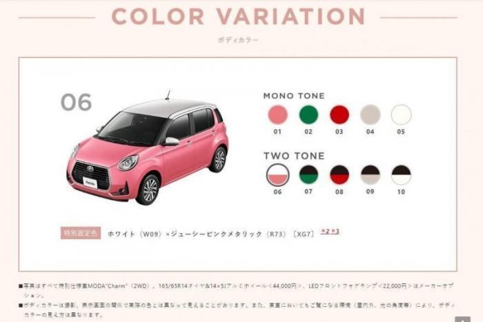 Toyota выпустила автомобиль Passo Moda Charm для женской аудитории