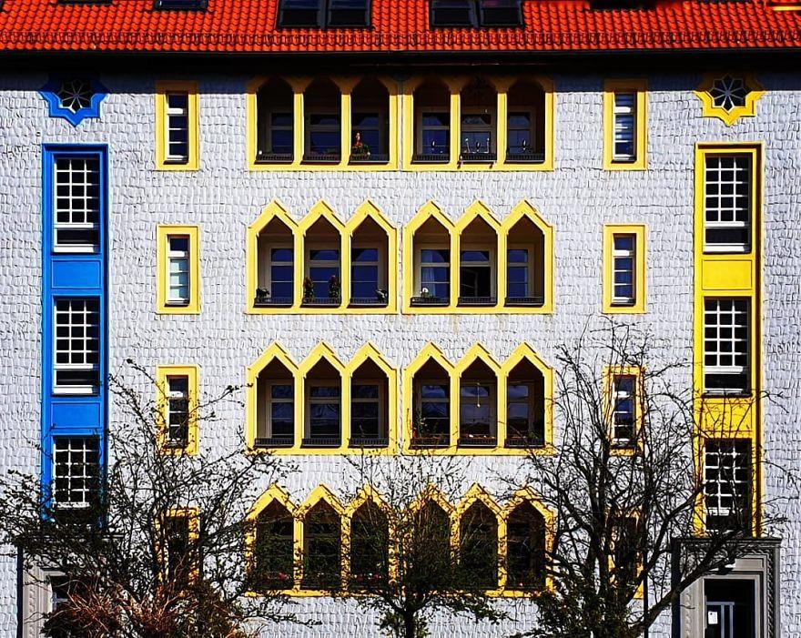 Красочные здания Берлина в объективе