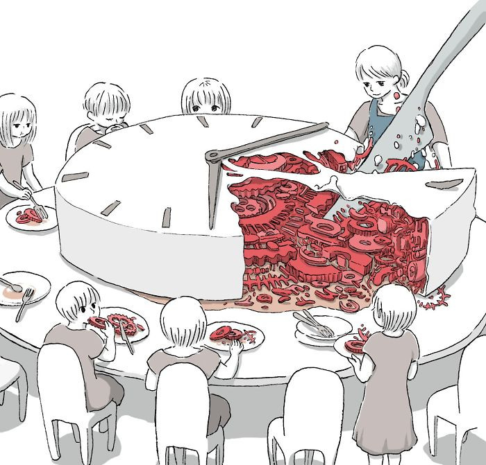 Необычные иллюстрации с едой от Маруи Мити