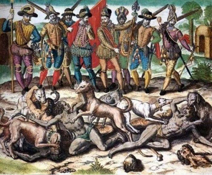 Боевые собаки - грозное оружие конкистадоров