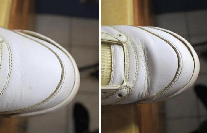 Этот способ поможет убрать заломы и морщины с обуви