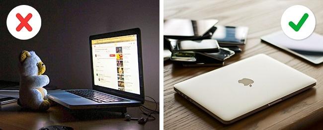 Вещи, которые могут повредить ваш ноутбук