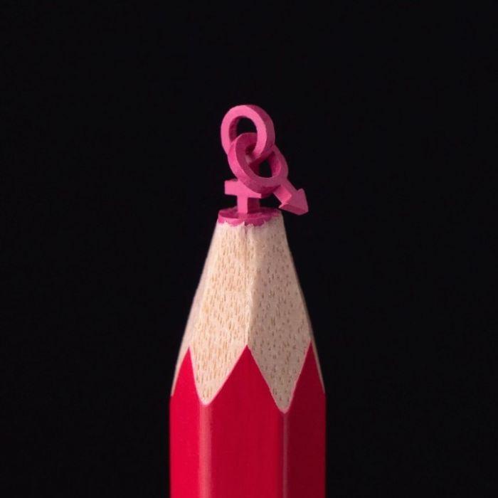Невероятные шедевры на кончиках карандашей