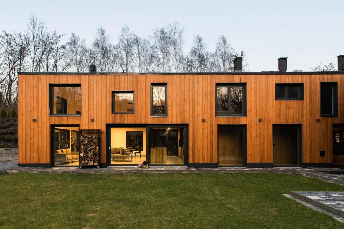 Современная резиденция из старого сельского дома в Польше