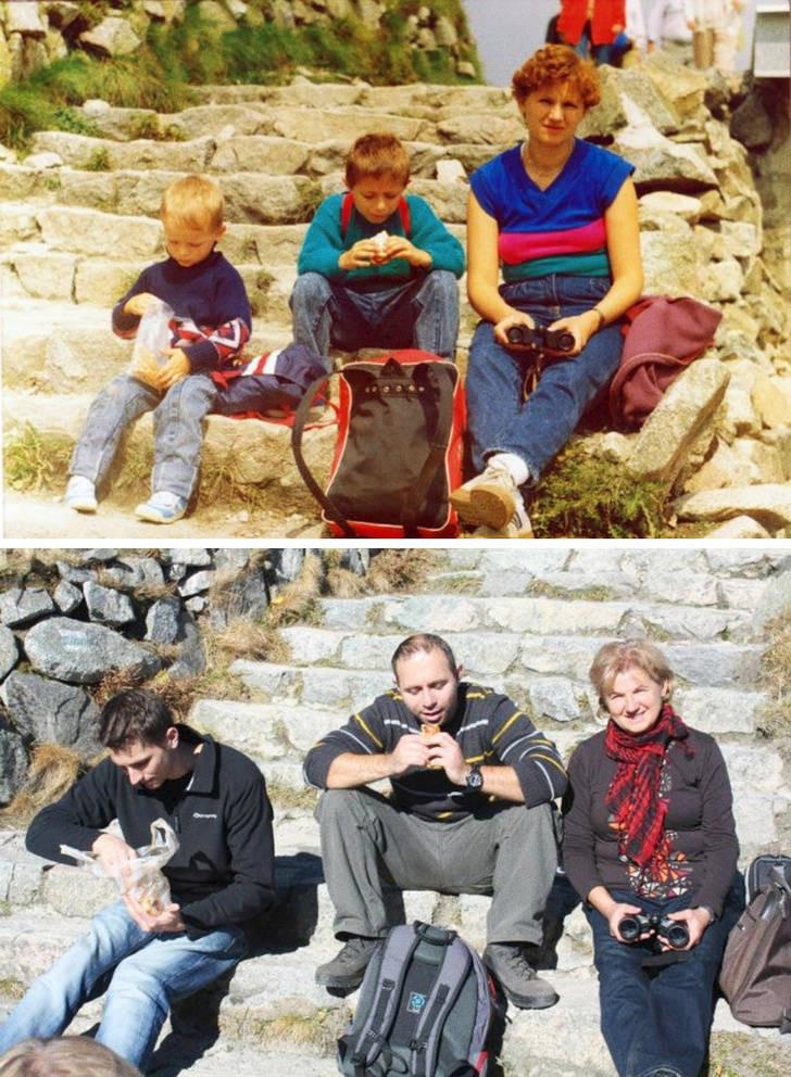 Они воссоздали свои детские фотографии, чтобы вернуться в прошлое