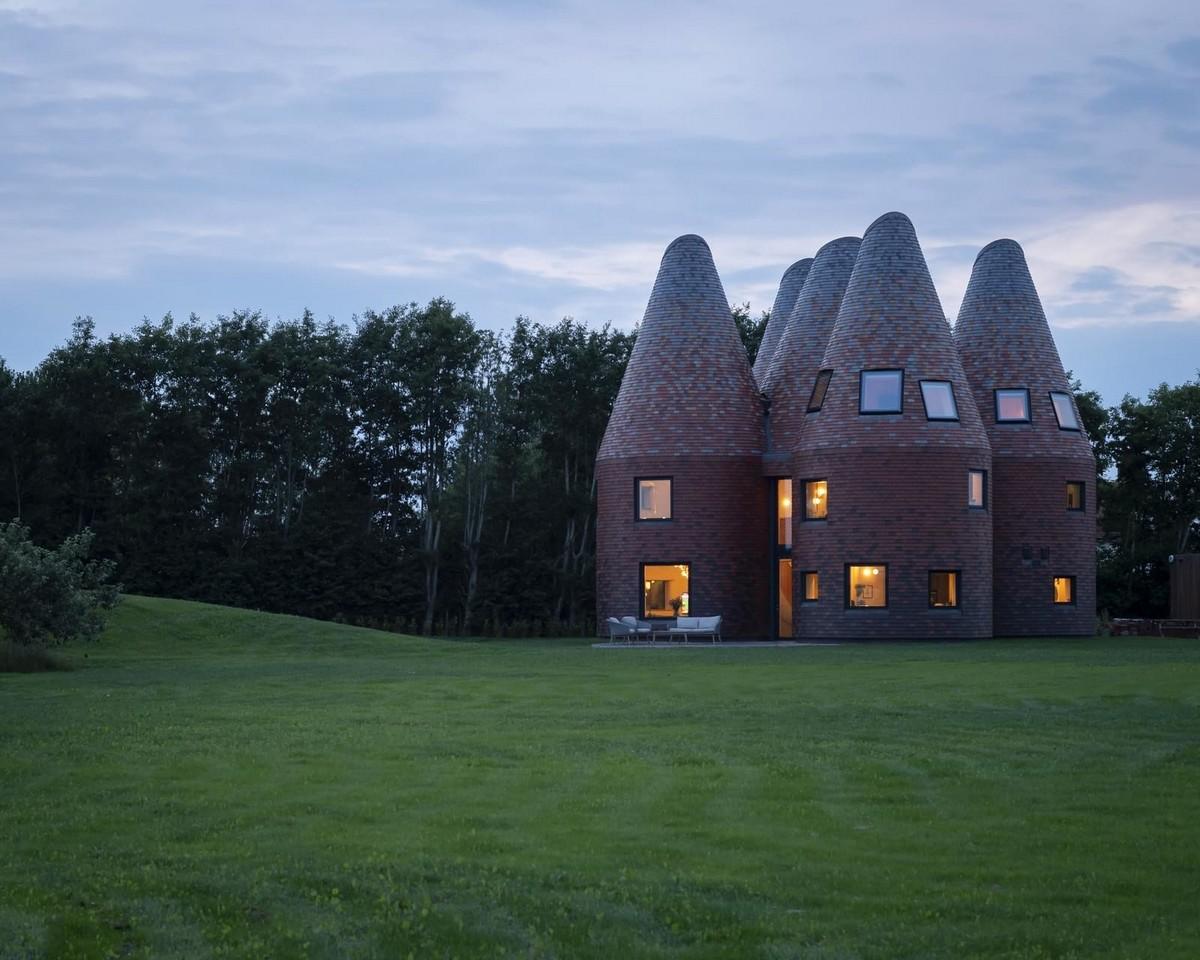 Вдохновлённый хмелесушилкой необычный дом в Англии