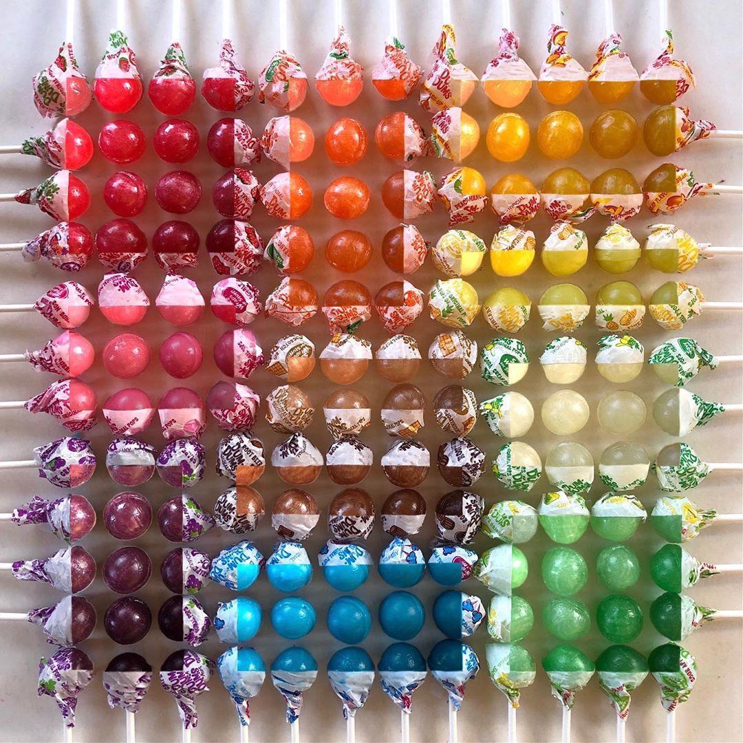 Разноцветные аккуратные композиции от Адама Хиллмана