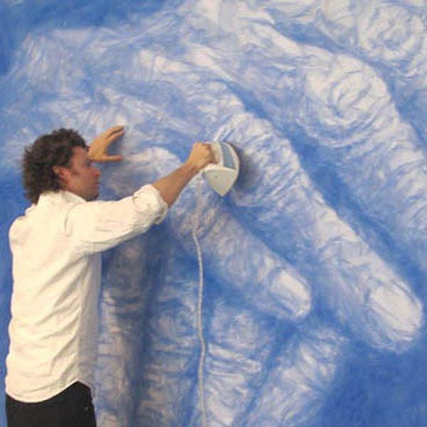 Скульптуры, созданные с помощью тюля и утюга