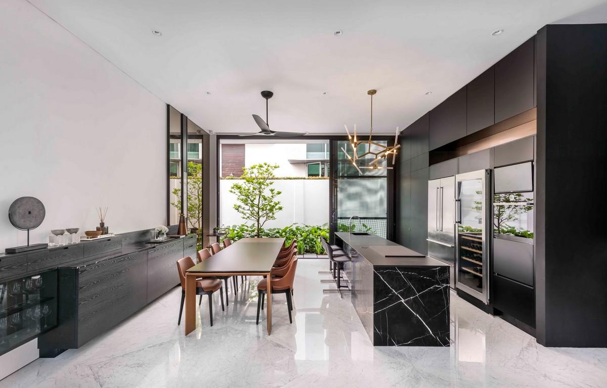 Стильный семейный дом в Сингапуре
