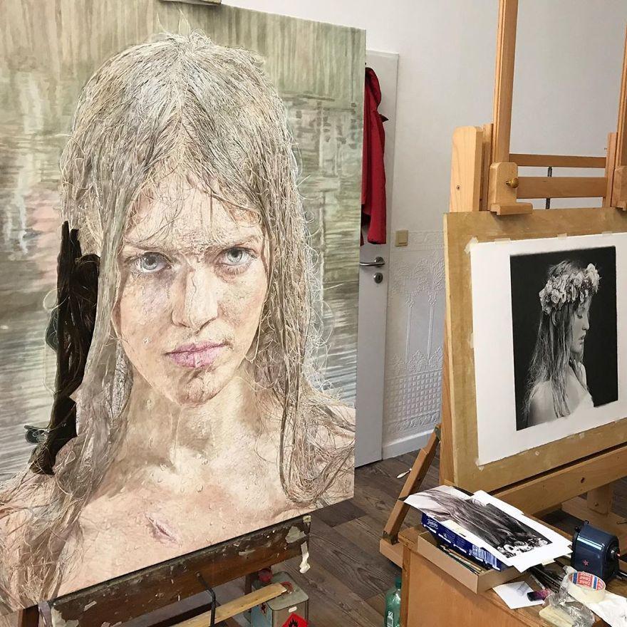 Гиперреалистичные портреты женщин от Филиппа Вебера