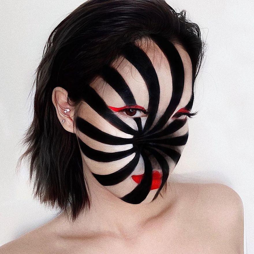 Оптические иллюзии на лице от визажистки из Вьетнама