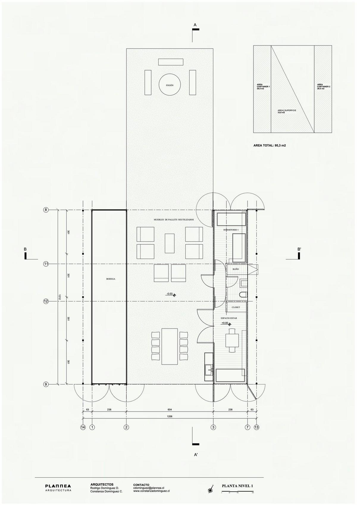 Оригинальный дом из морских контейнеров в Чили