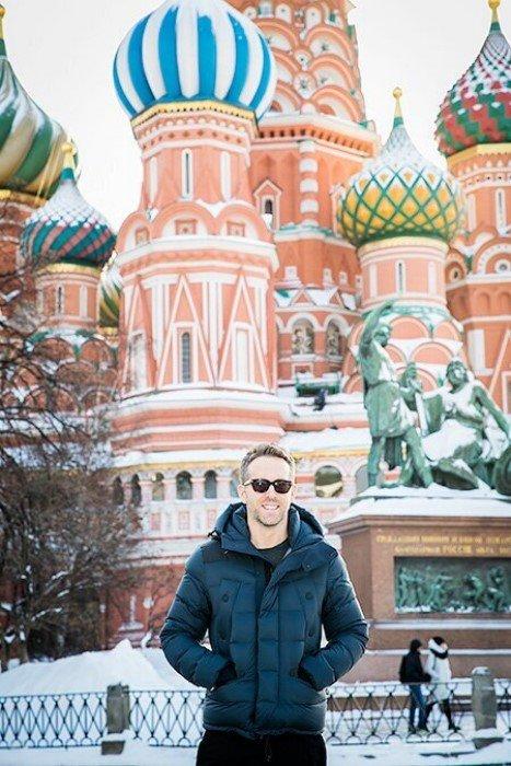 Снимки зарубежных знаменитостей на Красной площади