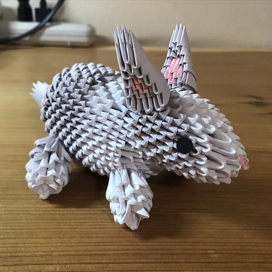 Трёхмерные скульптуры животных из бумаги