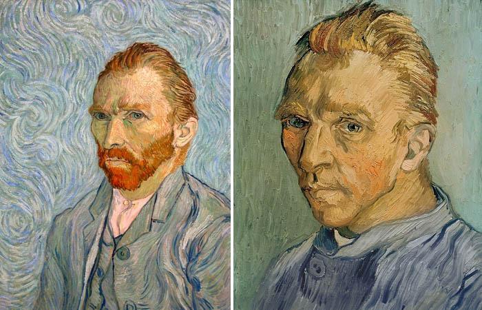 Портрет скрытый под Клочком травы Ван Гога