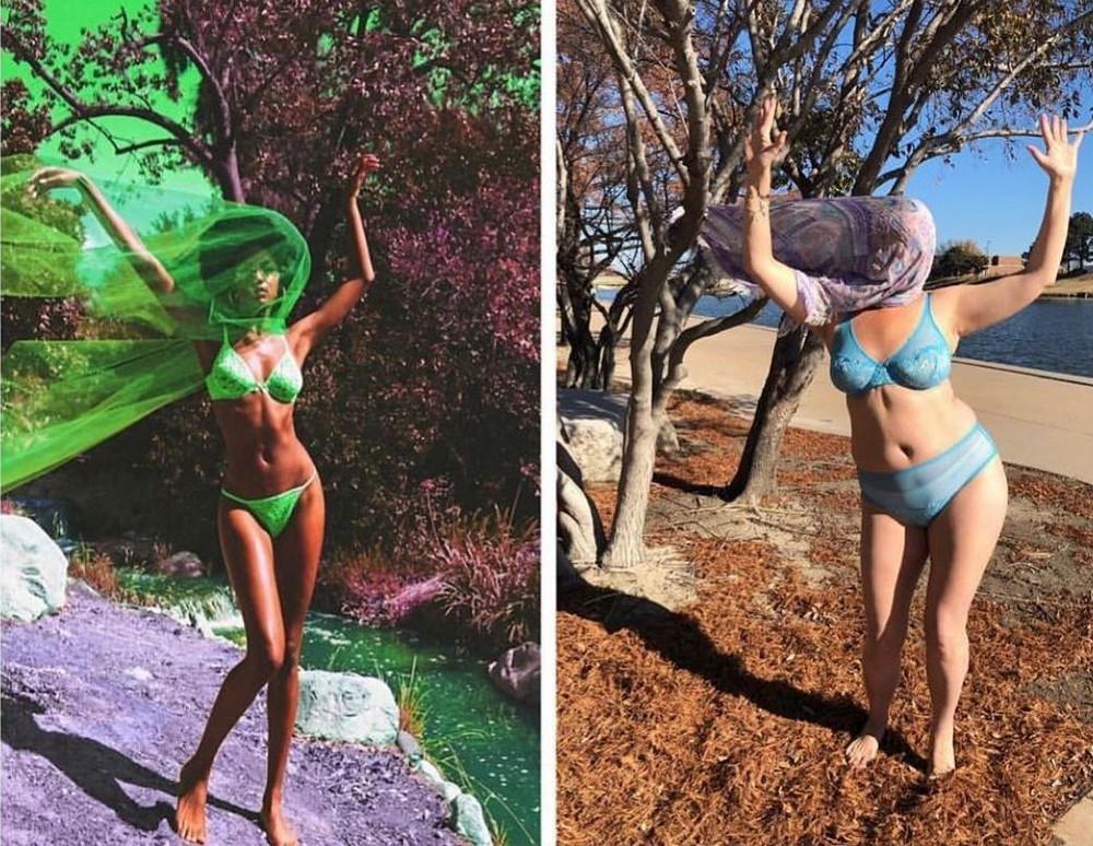 Селест Барбер продолжает делать пародийные снимки, высмеивающие звезд