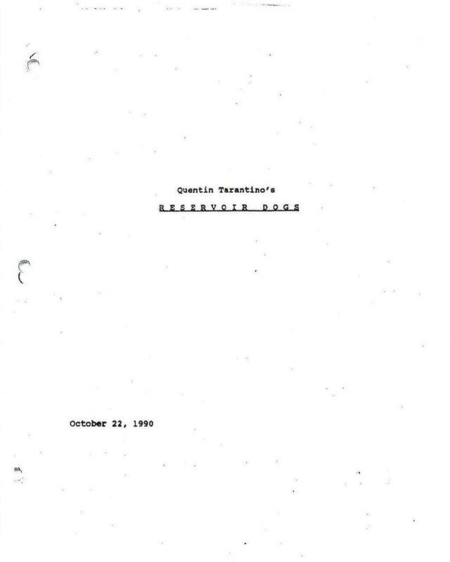 Обложки сценариев к фильмам Квентина Тарантино