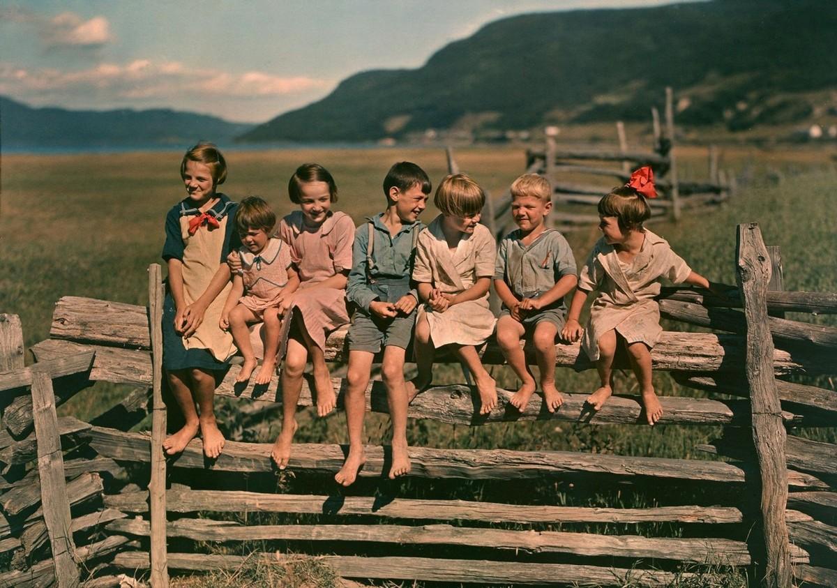 Ранние цветные фотографии показывают историю