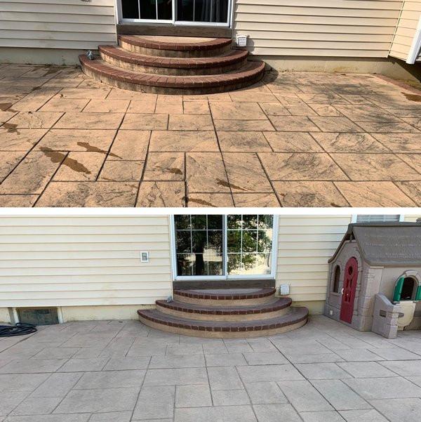 Различные места и вещи на снимках до и после чистки