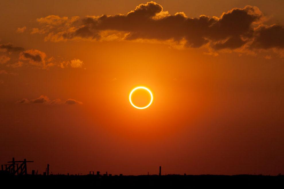 Кольцо огня - солнечное затмение 21 июня 2020