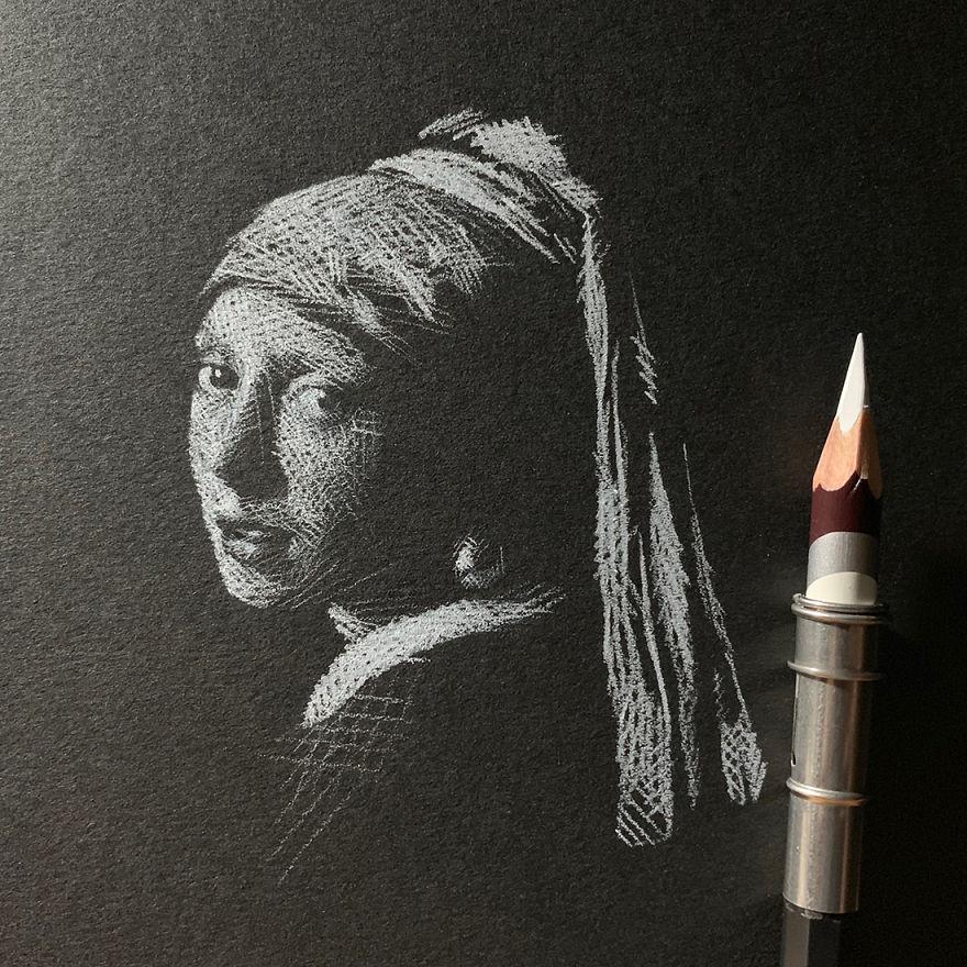 Необычные чёрно-белые рисунки от малайзийской художницы