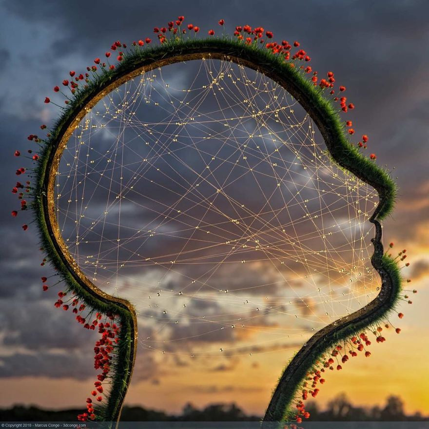 3D-художник объединяет в цифровых работах природу и мир человека