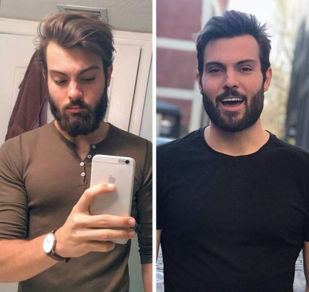 Мужчины попали к правильному мастеру и превратились в настоящих красавчиков