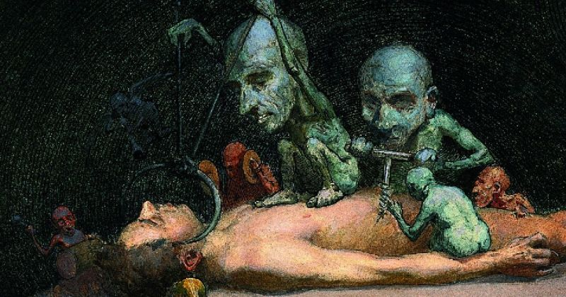 Ричард Теннант Купер и его чумные фантазии в картинах (ФОТО)