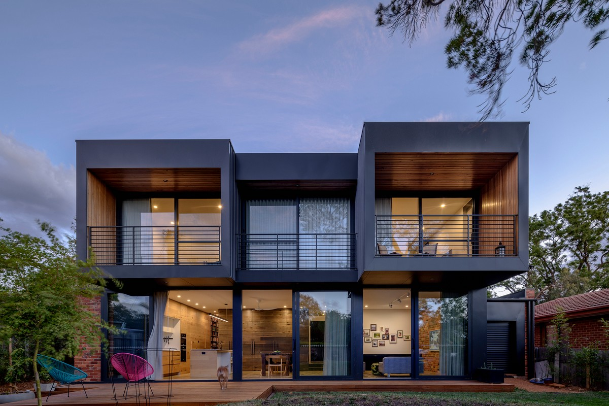 Современный двухэтажный дом в Австралии (ФОТО)
