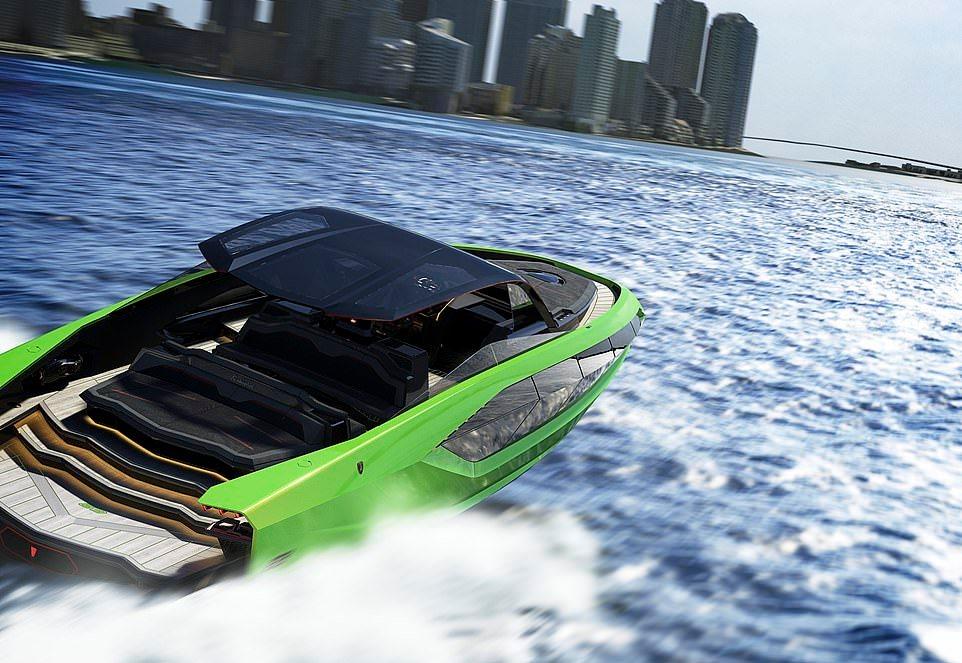 Суперъяхта Lamborghini 63 Tecnomar совместно с производителем лодок