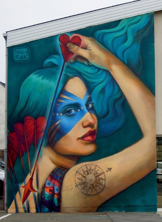 Яркие уличные рисунки от Натальи Рак