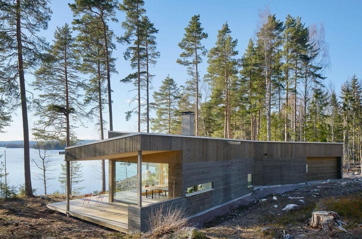 Резиденция на берегу озера в Швеции (ФОТО)