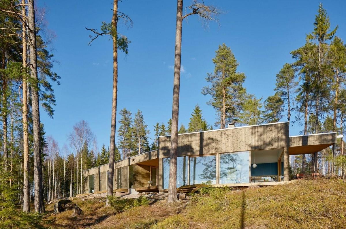 Резиденция на берегу озера в Швеции