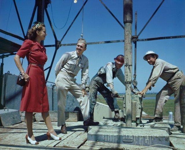 Индустриальные снимки из США 1940-х годов в цвете
