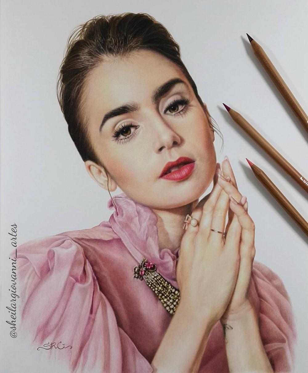 Реалистичные рисунки знаменитостей от Шейлы Р. Джованни