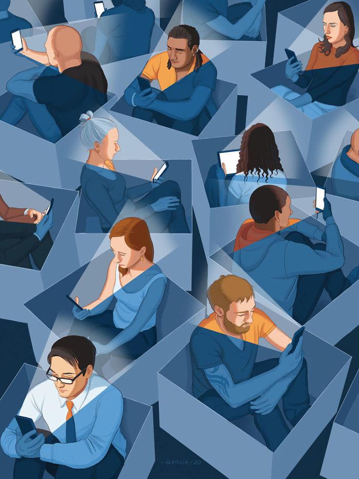Проблемы современного общества в иллюстрациях Даниэля Гарсии