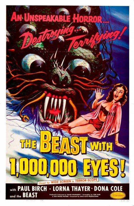 Чудовищные постеры к старым фильмам ужасов