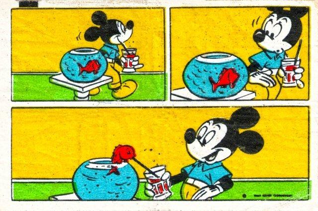 Коллекция вкладышей жевательной резинки Donald