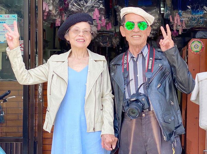 Пожилые супруги из Тайваня восхищают Instagram стильными образами