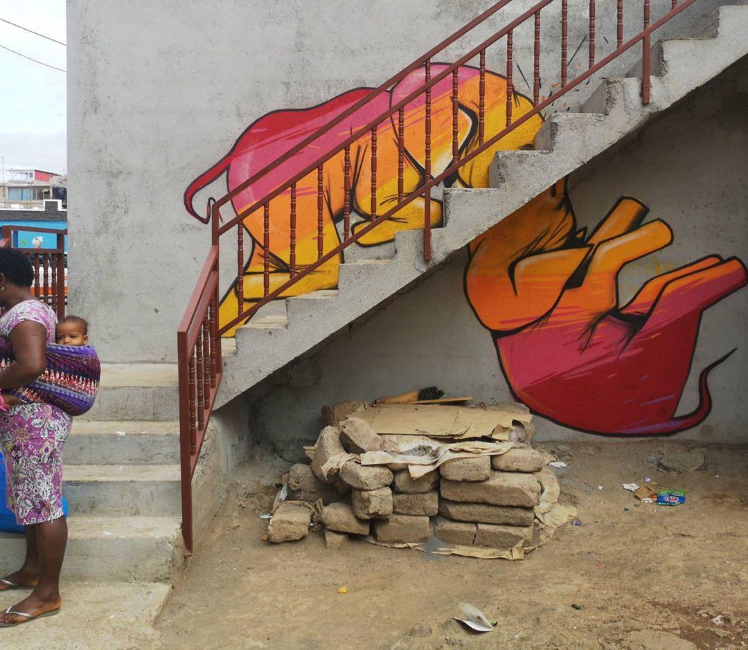 Яркие уличные рисунки от Falko One